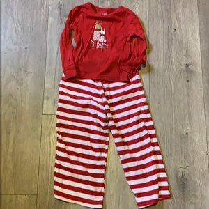 Circo 3t pj party pajama set red